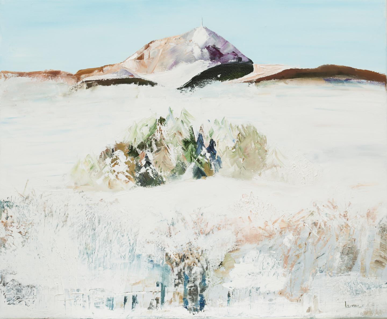 Francoise Lavenu - Puy de Dôme sous la neige