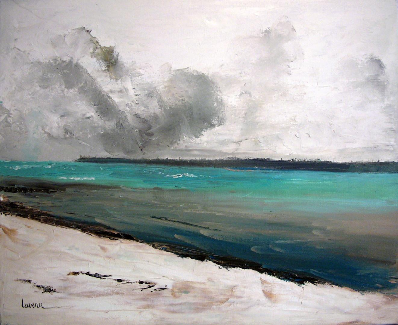 Francoise Lavenu - océan en hiver