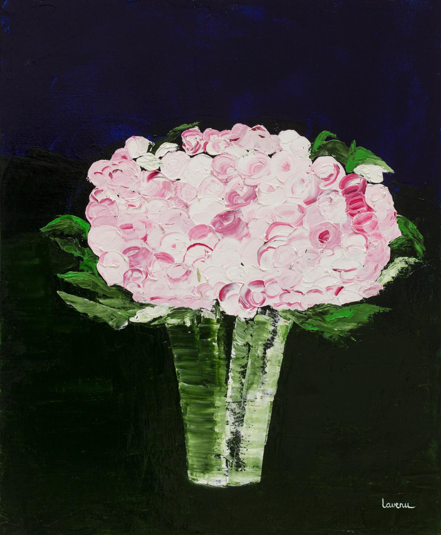 Francoise Lavenu - Bouquet roses pompons